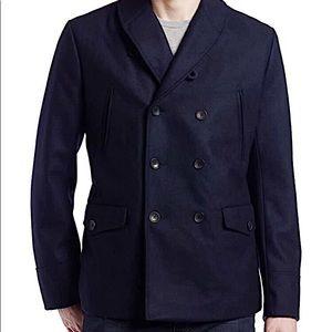Ben Sherman Wool Navy Pea Coat size small
